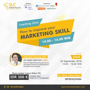 Coaching Clinic:  How to Improve Your Marketing Skill